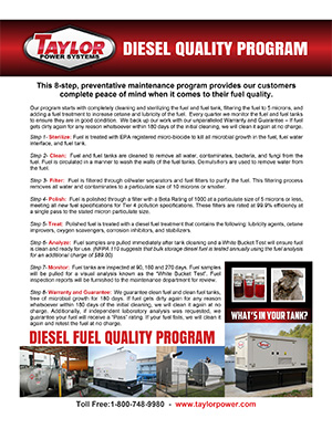 Information about our Fuel Cleaning Program, Click to Open